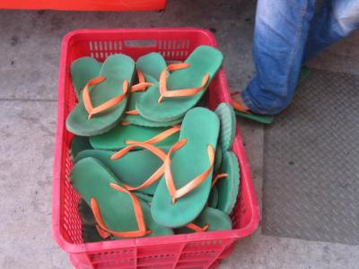 basket of flip flops